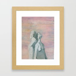 one flew over the statue Framed Art Print