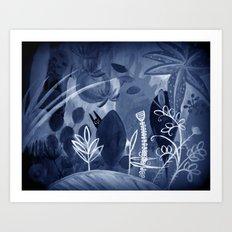 magic garden at night Art Print