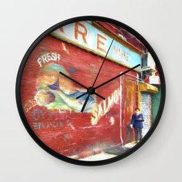 Fresh Oysters NYC Wall Clock