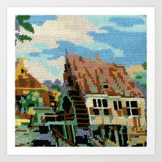 Found Tapestry Mill Art Print