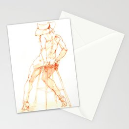 Woman From Behind Stationery Cards