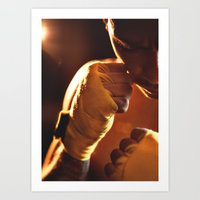 fight Art Prints featuring Fight. by Alexey & Julia