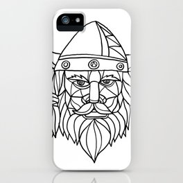 Norseman Black and White Mosaic iPhone Case