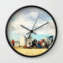 Beach Scene - Digital Remastered Edition Wall Clock