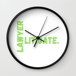 Lawyer Eat Sleep Litigate Repeat Wall Clock