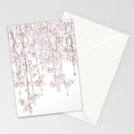 pink cherry blossom spring 2018 Stationery Cards