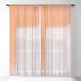 Dry Straw Sheer Curtain