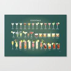 36 Cocktails Canvas Print
