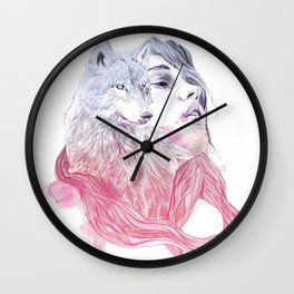 A Wolf in Girls Clothings Wall Clock