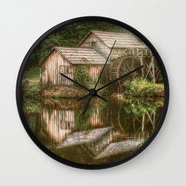 Mill on The Blue Ridge  Wall Clock