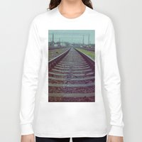 russia Long Sleeve T-shirts featuring Railroad. Russia. by Slava Joukoff