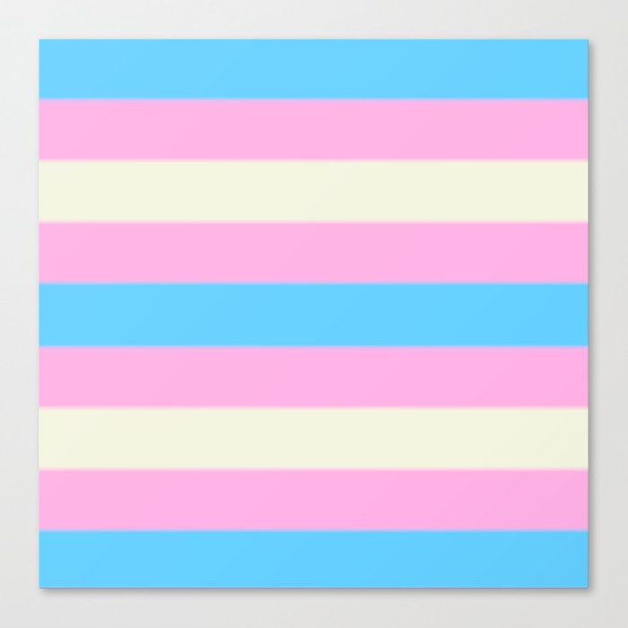 Transgender Pride Flag v2 Canvas Print