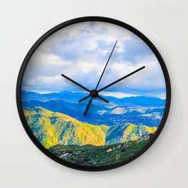 The Light in the Valley Wall Clock