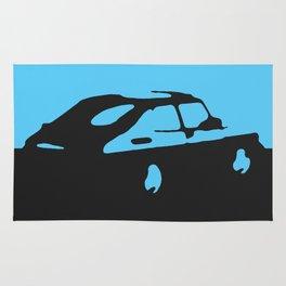 Saab 900 classic, Light Blue on Black Rug