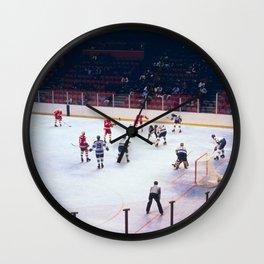 Vintage Hockey Match Wall Clock