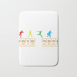 2019 2020 Happy New Year 2020 January 1st Fireworks Resolution Holiday Christmas T-shirt Design Bath Mat
