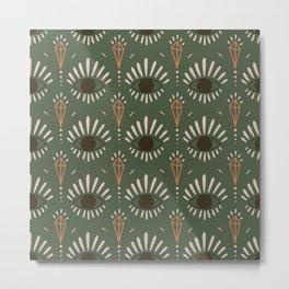Cabbage Pont Boho Geometric Metal Print