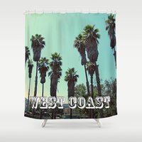 west coast Shower Curtains featuring West Coast by Romeo & Rebeccah