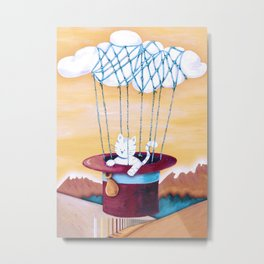 The cat traveling in dreams Metal Print