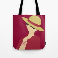 luffy Tote Bags featuring Luffy by Polvo
