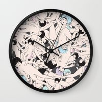cosmos Wall Clocks featuring Cosmos by Studio Anemone