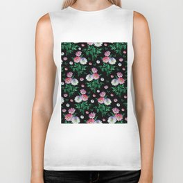 Floral background Biker Tank