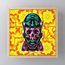 Face helmet Color Framed Mini Art Print