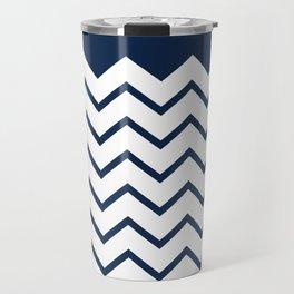 cheveron blue Travel Mug