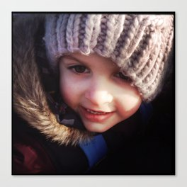 Wrapped up Warm Canvas Print