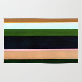 Stripes - Inspired by The Birth of Venus by Sandro Botticelli Rug