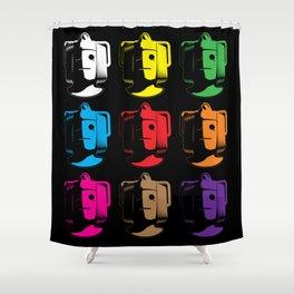 Cyberman Pop Art Shower Curtain