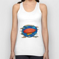 led zeppelin Tank Tops featuring Zeppelin by sugu