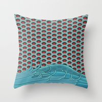 koi Throw Pillows featuring Koi by John Tibbott
