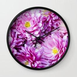 Padre Cerise Belgian Mum 'Bouquet' Wall Clock