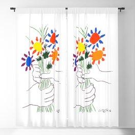 Pablo Picasso Bouquet Of Peace 1958 (Flowers Bouquet With Hands), T Shirt, Artwork Blackout Curtain