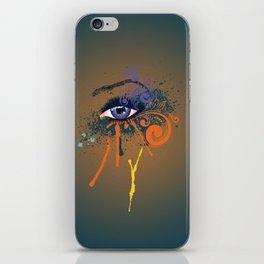Grunge violet eye iPhone Skin