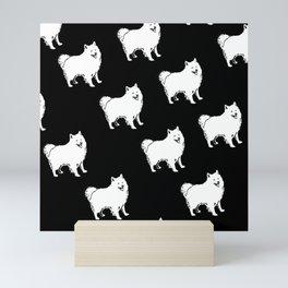 American Eskimo Dog Breed Pattern Mini Art Print