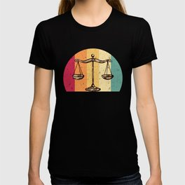 Scales Of Justice Lawyer Retro Gift Idea T-shirt