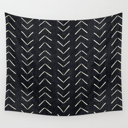 Mudcloth Big Arrows in Black and White Wall Tapestry