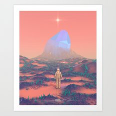 Lost Astronaut Series #02 - Giant Crystal Art Print
