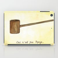 popeye iPad Cases featuring Ceci n'est pas Popeye by deniz ayaz