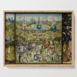 The Garden of Earthly Delights - Hieronymus Bosch Serving Tray