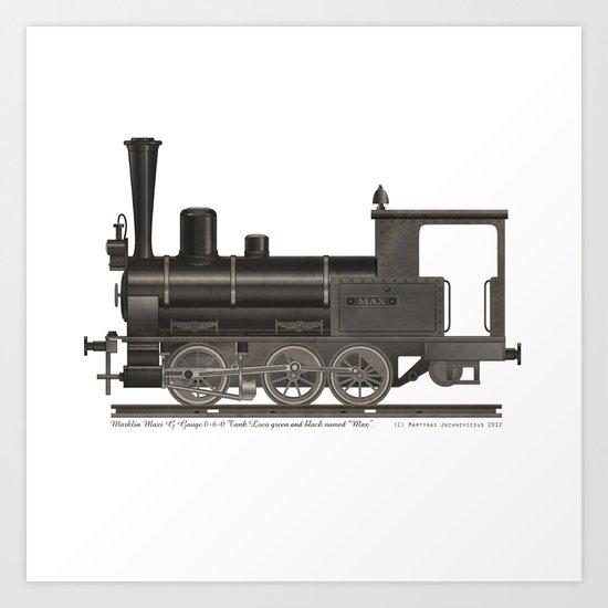 Locomotive Black Max Art Print