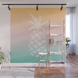 Ombre Pineapple - Tropical Pastel Wall Mural