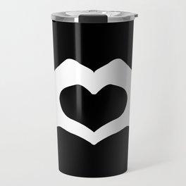 Hands making a heart shape- portraying love Travel Mug