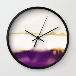 Purple and gold Wall Clock
