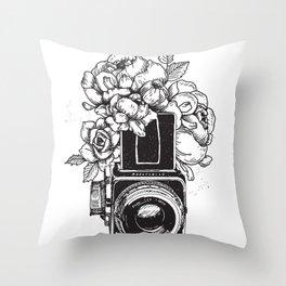 Has n Roses Throw Pillow