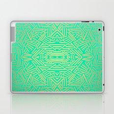 Radiate (Yellow/Ochre Teal- non metallic) Laptop & iPad Skin