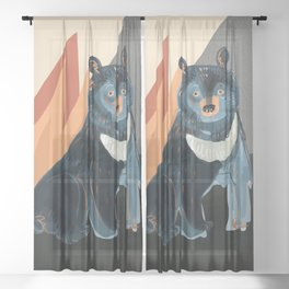 Taiga on fire #5 Sheer Curtain