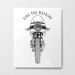 Ride The Machine Metal Print